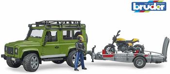 bruder-land-rover-defender-mit-anhaenger-scrambler-ducati-full-throttle-spielfahrzeug-inkl-fahrer
