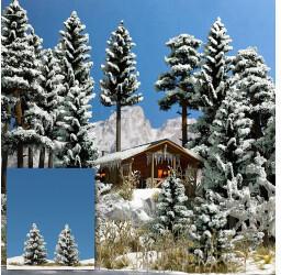 Busch 2 Schnee-Fichten, 55 mm