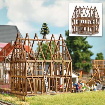 busch-1370-h0-fachwerkhaus-rohbau