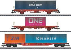Märklin 47580 Container-Tragwagen-Set, Lgs 580