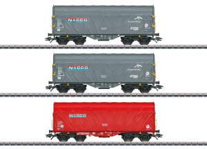 Märklin 047224 Schiebeplanenwagen der Nacco, 3er-Set