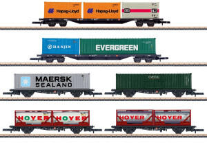 Märklin 082665 Containertragwagen der DB AG, 6er-Set