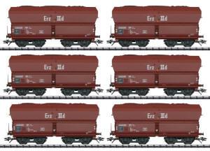 Trix H0 T24150 Selbstentladewagen 6er-Set Erz IIId der DB