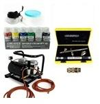 Airbrush-City Airbrush Set - Evolution Silverline 126003 Airbrush Pistole Two in One