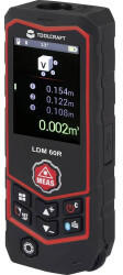 TOOLCRAFT Toolcraft LDM 60 R Multi-Laser mit Bluetooth