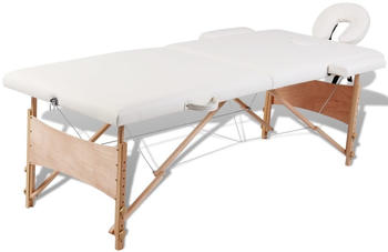 VidaXL Therapy Table 2 Zones Wood white