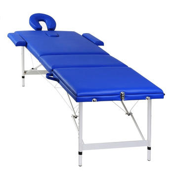 vidaXL Therapy Table 3 Zones Aluminium blue