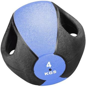 Trendy Sport Esfera Medizinball mit 2 Griffen 4 kg blau