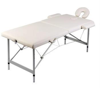 vidaXL Therapy Table 2 Zones Aluminium blue
