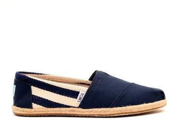 Toms Shoes Classics Women stripe university navy