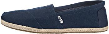 Toms Shoes Classic Alpargatas navy linen rope sole