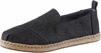 Toms Shoes Deconstructed Alpargata Women black washed canvas