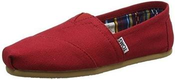 Toms Shoes Classic Alpargatas Women red canvas