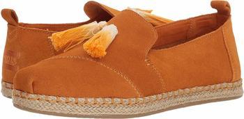 Toms Shoes Deconstructed Alpargata Rope Women saffron suede/tassel