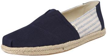 Toms Shoes Classic Canvas Striped Espadrilles blue