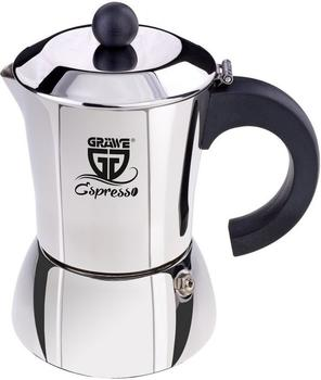 Gräwe Espressokocher Edelstahl 6 Tassen