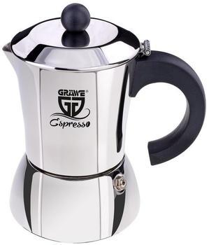 Gräwe Espressokocher Edelstahl 10 Tassen