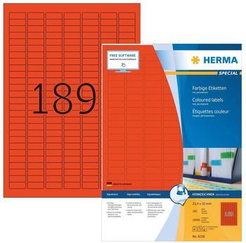 Herma Universal-Etiketten rot (4238)