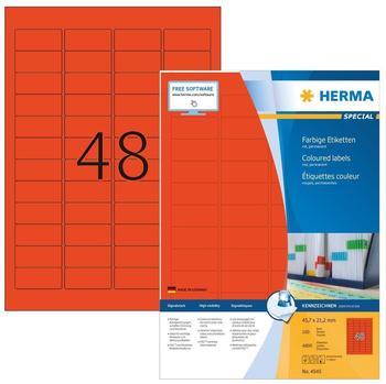 Herma Universal-Etiketten rot (4545)
