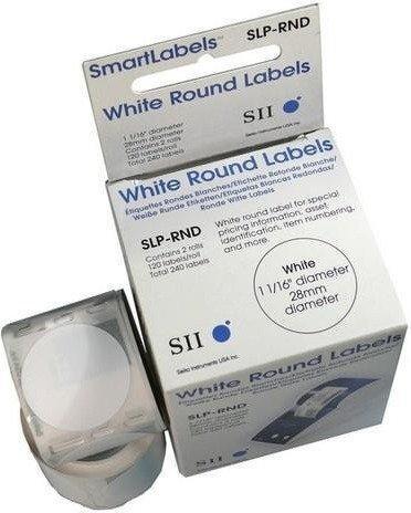 Seiko Instruments Mehrzweck-Etiketten rund weiß (SLP-RND)