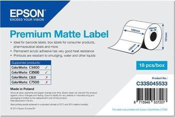 Epson Etikettenrolle matt (C33S045533)
