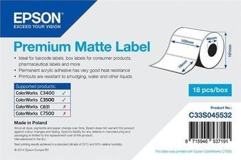 Epson Etikettenrolle matt (C33S045532)