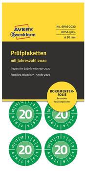 Avery Prüfplaketten grün (6946-2020)
