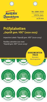Avery Zweckform Prüfplaketten grün (6985-2020)