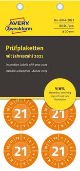 Avery Zweckform Prüfplaketten orange (6944-2021)