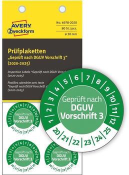Avery Zweckform Prüfplaketten grün (6978-2020)