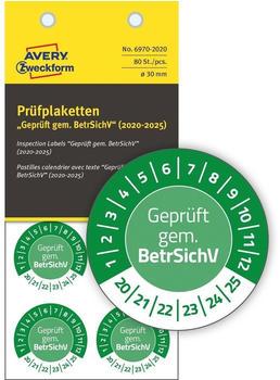 Avery Zweckform Prüfplaketten grün (6970-2020)
