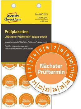Avery Zweckform Prüfplaketten orange (6987-2021)