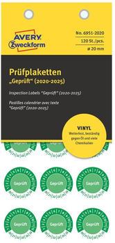 Avery Zweckform Prüfplaketten grün (6951-2020)