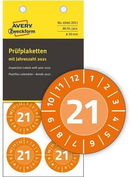 Avery Zweckform Prüfplaketten orange (6946-2021)