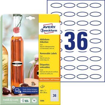 Avery Zweckform Klebeetiketten weiß (5086)
