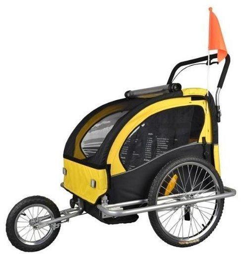 Tiggo Kinderfahrradanhänger Jogger 2-in-1 (502) gelb