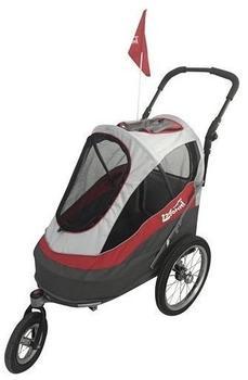 InnoPet Sporty Trailer Pet Stroller Dogtrailer rot/weiß