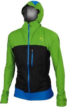 KARPOS Men's Lot Rain Jacket apple green/black bluette