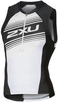 2XU Compression Tri Singlet white/black (MT4841a)