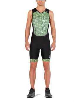 2XU Perform Front Zip Trisuit black/geo neon green (MT4848d-BLK_GNG-S-cto)