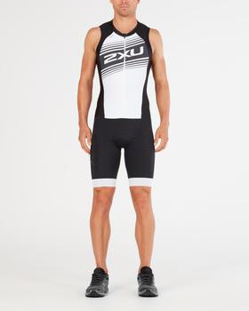 2XU Compression Full Zip Trisuit black/white logo graphic (MT4839d-BLK_WLG-S-cto)