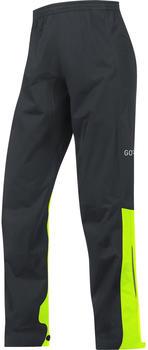 Gore C3 Gore-Tex Active Pants black/neon yellow (100035)