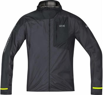 Gore R7 Windstopper Light Hooded Jacket Men terra grey/black