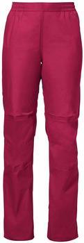VAUDE Women's Drop Pants II crimson red
