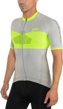 X-Bionic Invent 4.0 Bike Race Zip Trikot SH SL Men's dolomite grey/phyton yellow