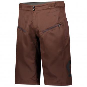 Scott Shorts Trail Vertic with Pad Maroon Red