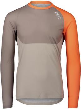 POC MTB Pure l/s Jersey Men zink orange/moonstone grey/light sandstone beige (2021)