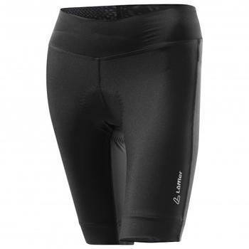 Löffler Women's Bike Short Tights Tour Black / Grey Melange