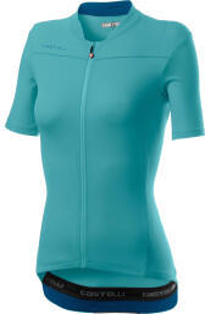 Castelli Anima 3 Short Sleeve Trikot Womans (2021) celeste/marine blue