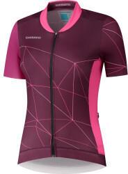 Shimano Sagami Short Sleeve Zip Shirt Womans (2021) purple